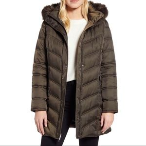 Kenneth Cole New York Faux Fur Puffer Jacket